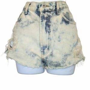 The limited high waisted distressed Jean shorts